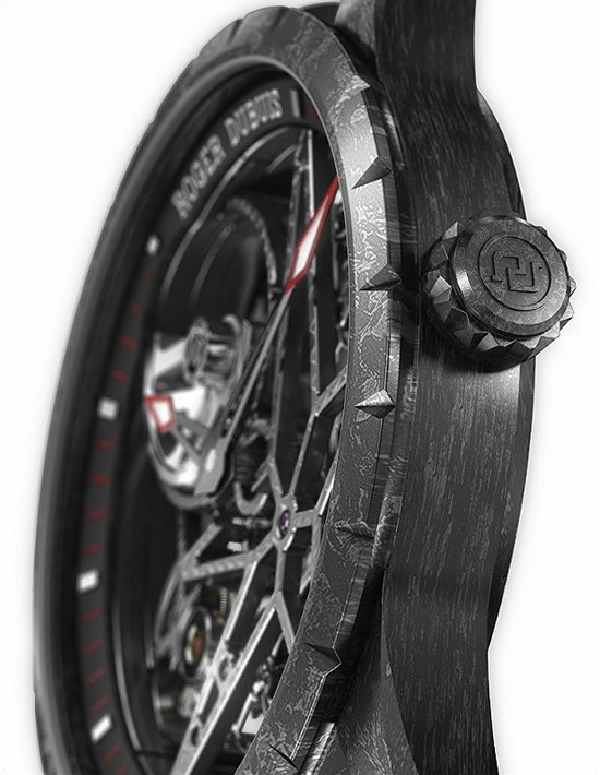Roger Dubuis Excalibur Skeleton Carbon Watch - Crown