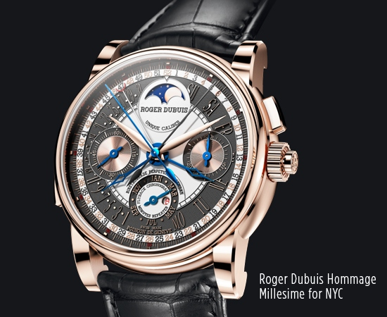 Roger Dubuis Hommage Millésime for NYC Watch