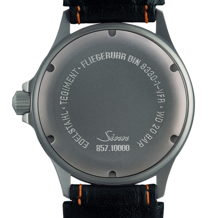 Sinn DIN 8330 Watch - 857 UTC VFR - Back