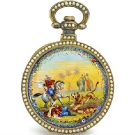 Bovet Fleurier Silver Gilt Enamel and Pearl Pocket Watch
