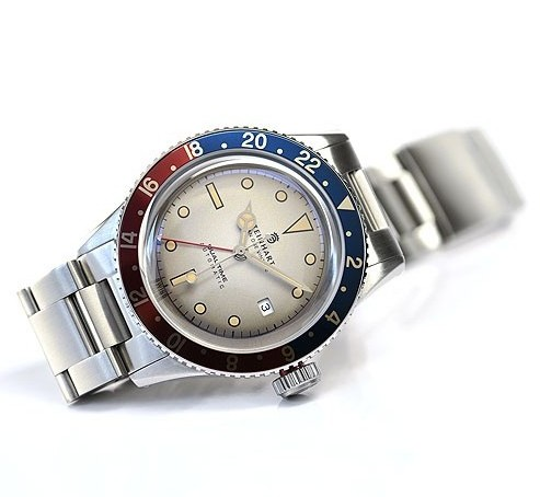 Steinhart Ocean One Vintage Dual Time Premium Watch Front