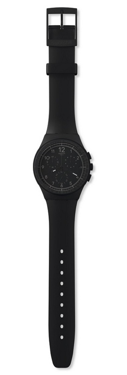 chronograph silicone zoom watch plastic men black swatch efficiency mens dial watches for s originals