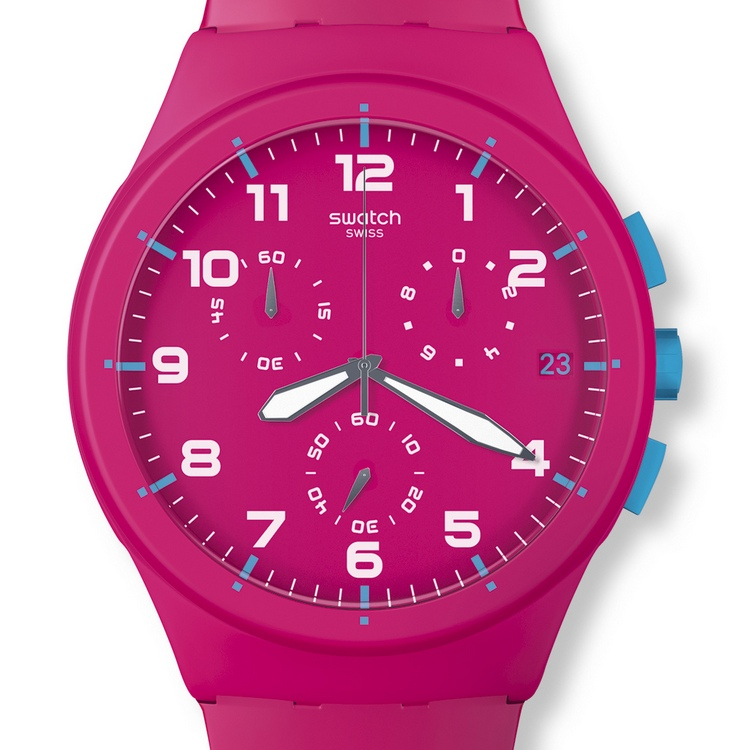 Swatch Chrono Plastic Watch - Pink Frame