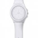 Swatch Chrono Plastic Watch - Basic White