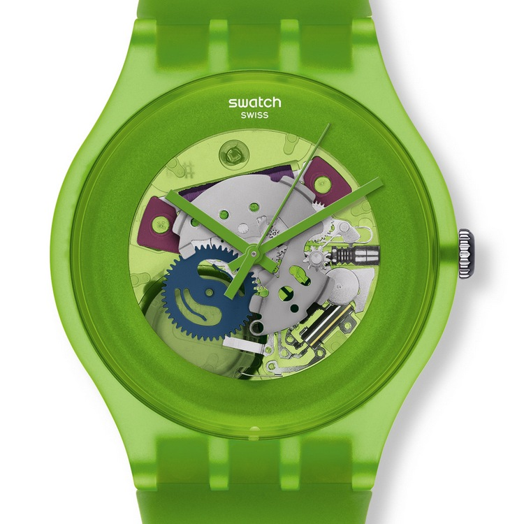Swatch Originals Family Gent Lacquered Watch Green