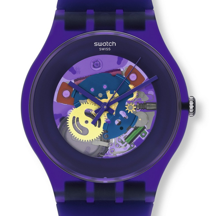 Swatch Originals Family Gent Lacquered Watch Purple