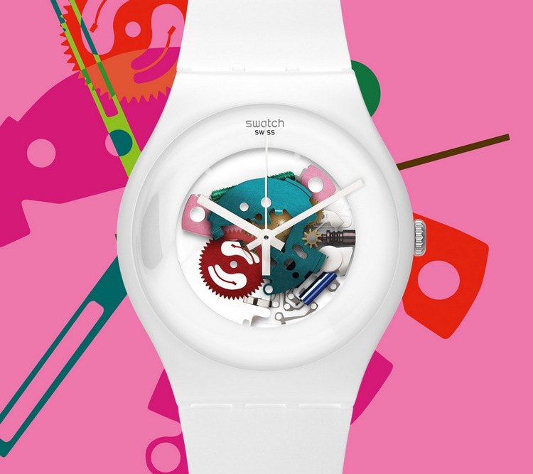 Swatch Originals Family Gent Lacquered Watch White
