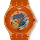 Swatch Originals Family Gent Lacquered Watch Orange