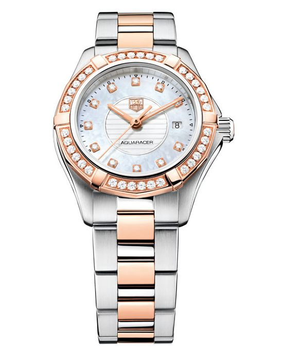 Tag Heuer Ladies' Aquaracer 27 mm Diamond Watch
