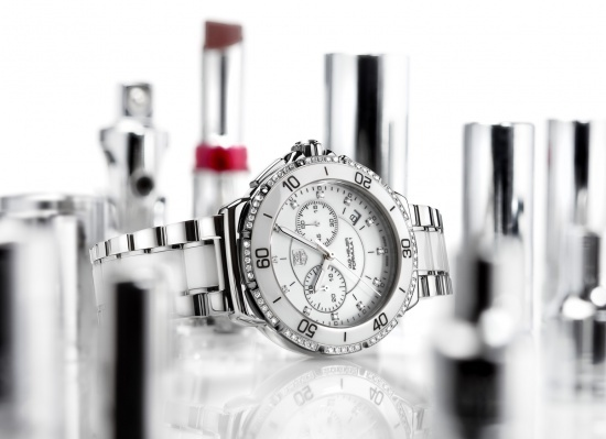 Tag Heuer Formula 1 Ladies Steel and Ceramic Chronograph Watch