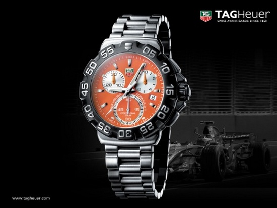 be053366bbe2 Tag Heuer Formula 1 Orange Chronograph Watch