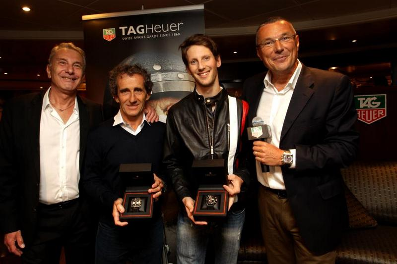 Michael Ferry, Alain Prost, Romain Grosjean and Jean-Christophe Babin