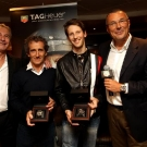 Michael Ferry, Alain Prost, Romain Grosjean and Jean Cristophe Babin
