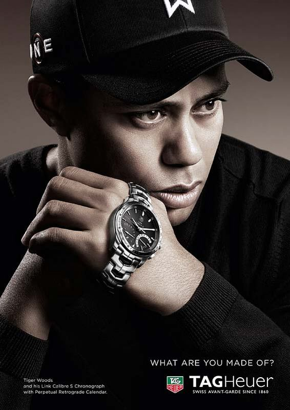 Tag Heuer Link Caliber S Chronograph Watch Tiger Woods