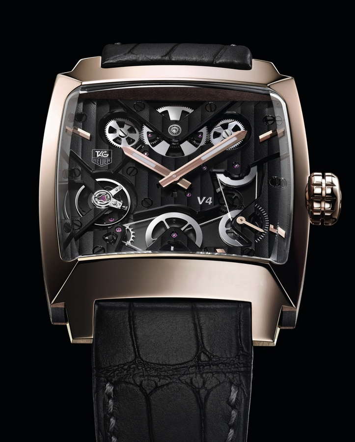 Tag Heuer Monaco V4 Next Generation Rose Gold Ruthenium and Ceramic Watch