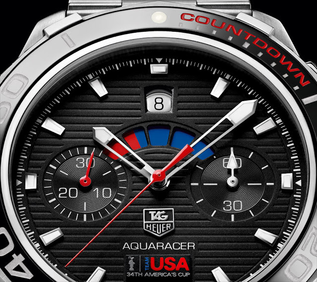 Tag Heuer Aquaracer Calibre 72 Oracle Team USA Watch Dial