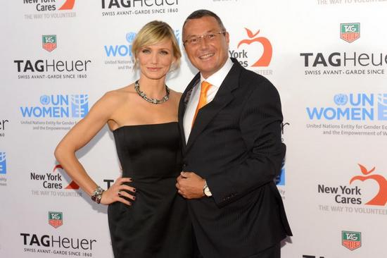 TAG Heuer Charity Event - Cameron Diaz and Jean-Christophe Babin