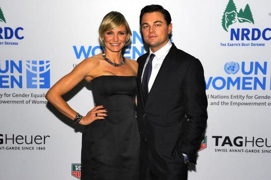 TAG Heuer Charity Event - Cameron Diaz and Leonardo di Caprio
