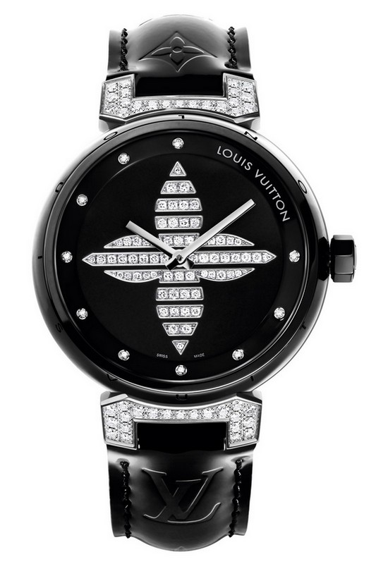 Louis Vuitton Tambour Forever Black Ceramic Watch
