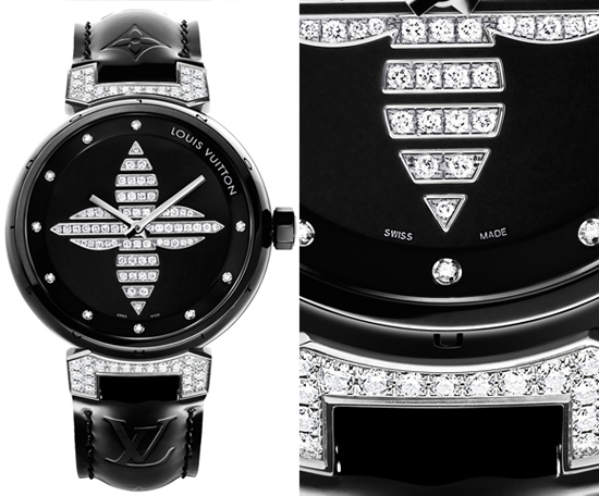Louis Vuitton Tambour Forever Ceramic Watch Black