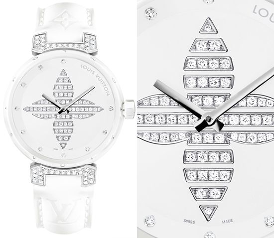 Louis Vuitton Tambour Forever Ceramic Watch White