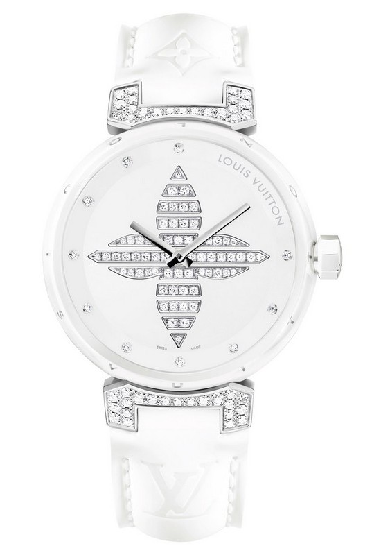 Louis Vuitton Tambour Forever White Ceramic Watch
