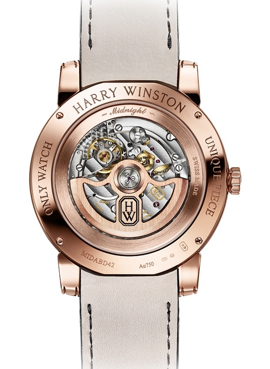 Harry Winston Midnight Big Date 2013 Only Watch Caseback