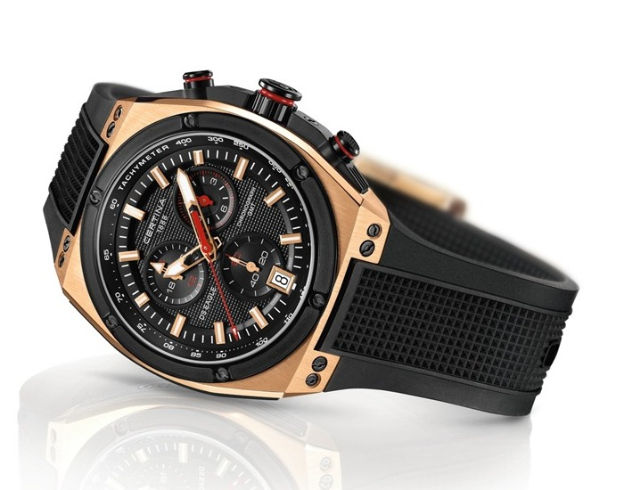 Certina DS Eagle Chronograph Watch Rose Gold