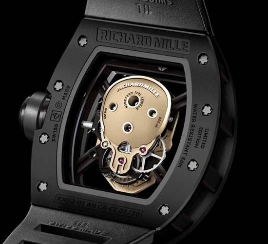 Richard Mille RM 52-01 Skull Tourbillon Watch Caseback