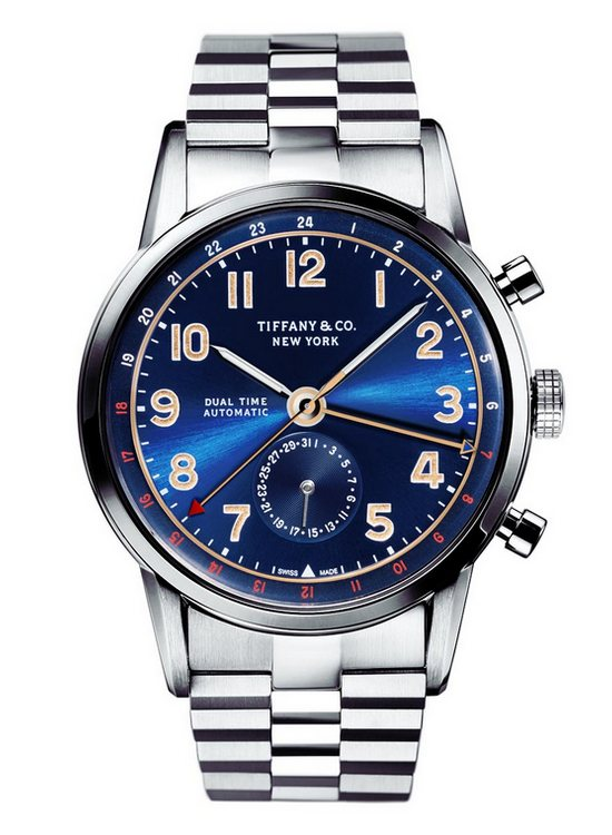 Tiffany & Co. Tiffany CT60 Dual Time Watch Blue Dial