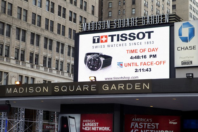 tissot became the official timepiece of madison square
