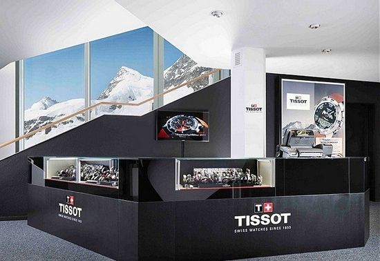 Tissot boutique at the Jungraujoch
