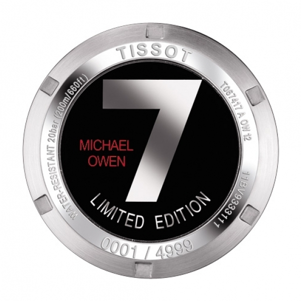 Tissot PRS200 Michael Owen Limited Edition 2012 Watch Caseback