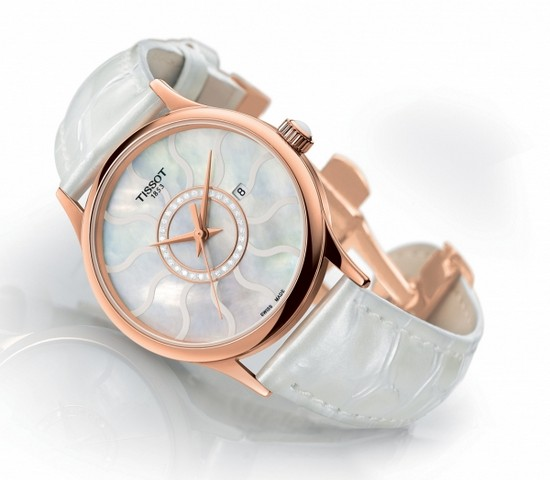 Tissot Rose Dream Gold Watch