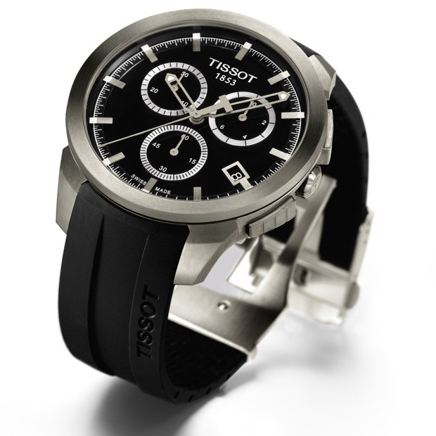 Tissot T-Sport Titanium Chronograph Watch Side View