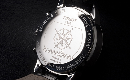 Tissot T-Touch Classic Watch Caseback
