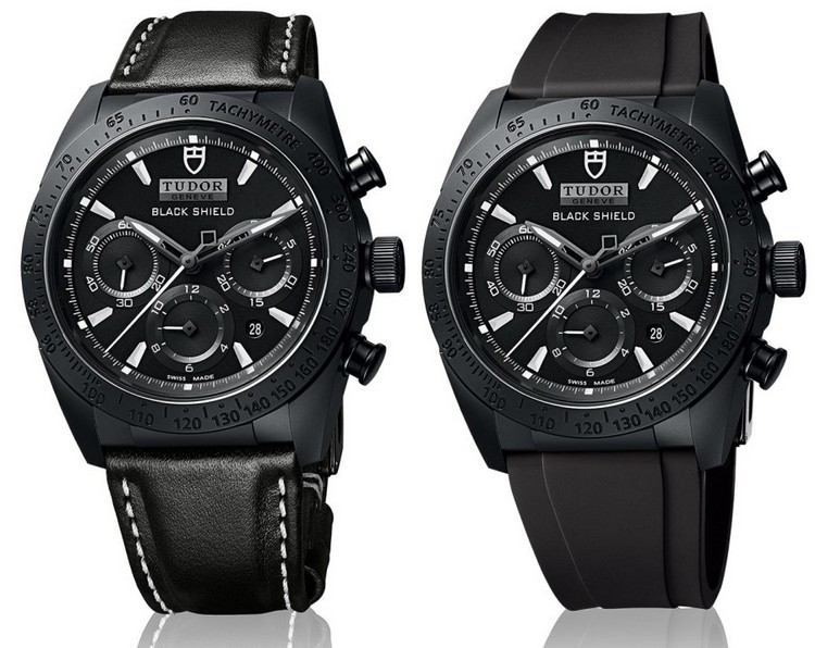Tudor Fastrider Black Shield 42000CN Watch - Leather and Rubber Strap