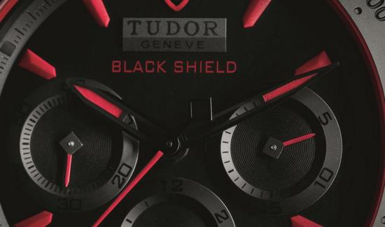 Tudor Fastrider Black Shield Ceramic Watch Detail