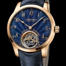 Ulysse Nardin Anchor Tourbillon Rose Gold Watch with Blue Enamel Dial