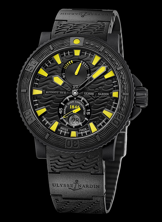 Ulysse Nardin Marine Diver Black Sea with Yellow Details Watch