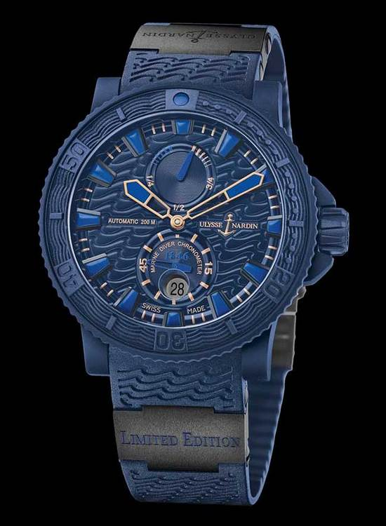 Ulysse Nardin Blue Ocean Watch Front