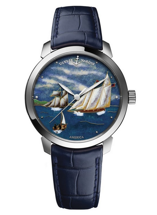 Ulysse Nardin Classico America Watch White Gold