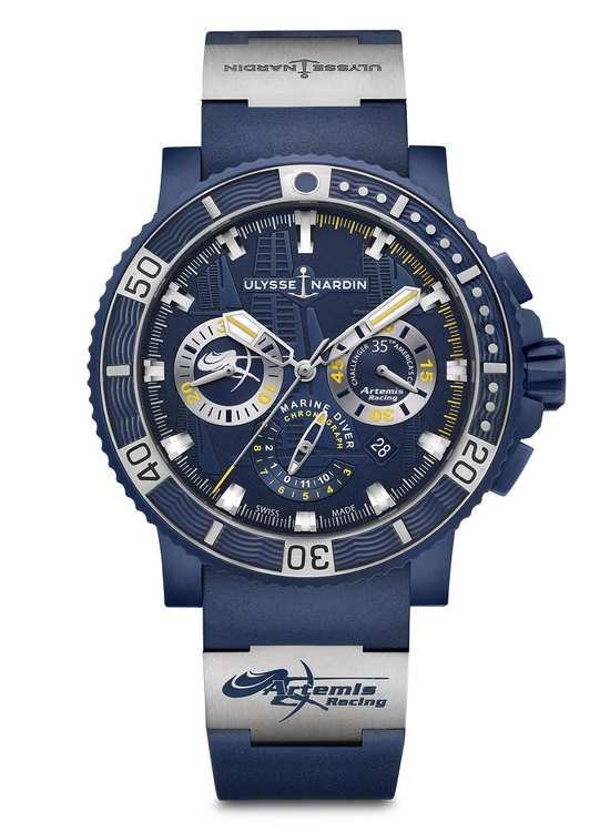 Ulysse Nardin Diver Chronograph Artemis Racing Watch Front