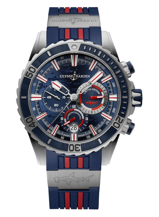 Ulysse Nardin Diver Chronograph Hammerhead Shark Watch Stainless Steel