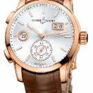 Ulysse Nardin Dual Time Manufacture Brown Leather Watch