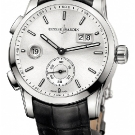 Ulysse Nardin Dual Time Manufacture Leather Watch Silver Dial