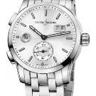 Ulysse Nardin Dual Time Manufacture Steel Watch Silver Dial