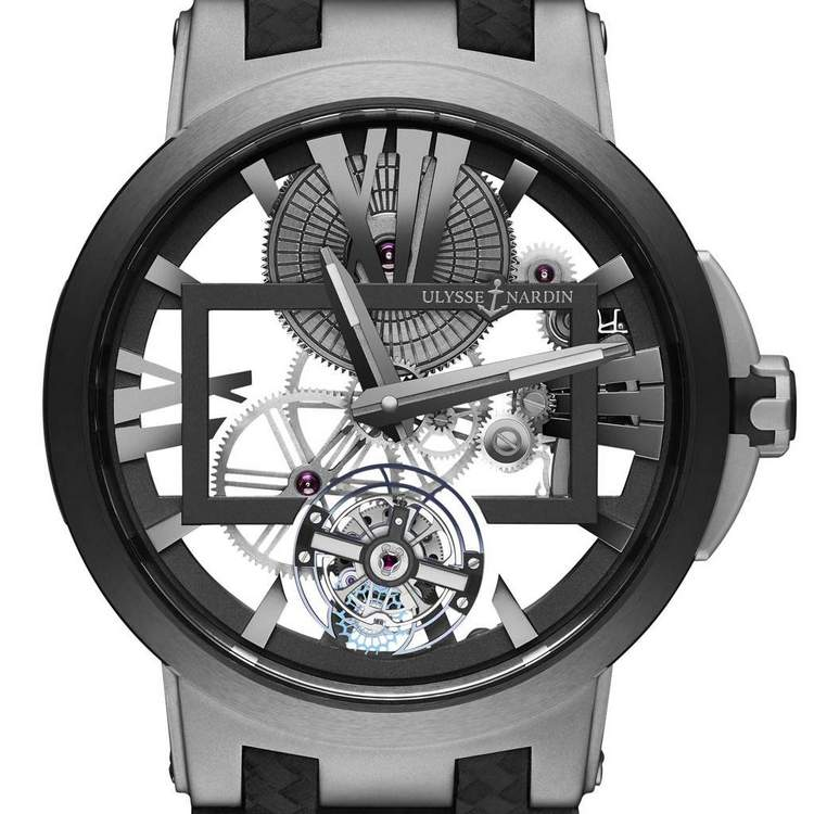 Ulysse Nardin Executive Skeleton Tourbillon Watch Dial
