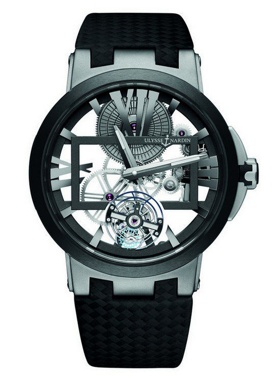 Ulysse Nardin Executive Skeleton Tourbillon Watch Front