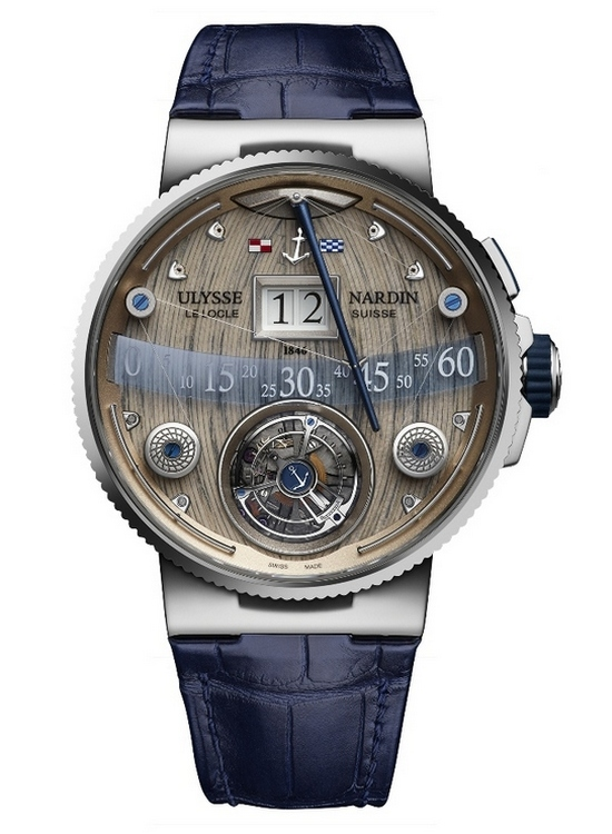 Ulysse Nardin Grand Deck Marine Tourbillon Watch Front